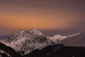 Moonlight Above the Schanfigg in Canton of Grisons by Armin Mathis