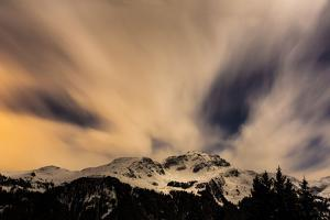 Moonlit Night over Aroser Weisshorn by Armin Mathis