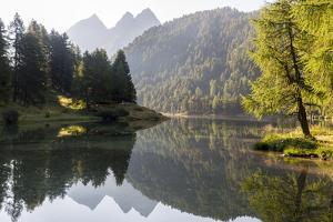 Morning Mood at Lai Da Palpuogna, a Picturesque Lake in Canton of Grisons by Armin Mathis