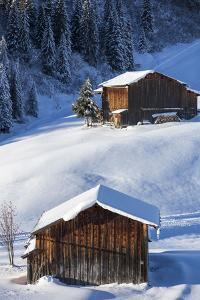 Stables in the Winter Scenery by Armin Mathis