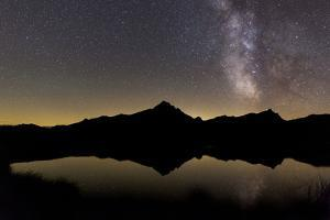 Starry Sky Above the Piz Beverin by Armin Mathis