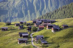 Walser Village in the Swiss Canton of Grisons by Armin Mathis