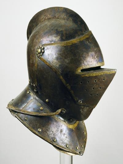 Armor Helmet in Burnished Steel, 1600-1605--Giclee Print