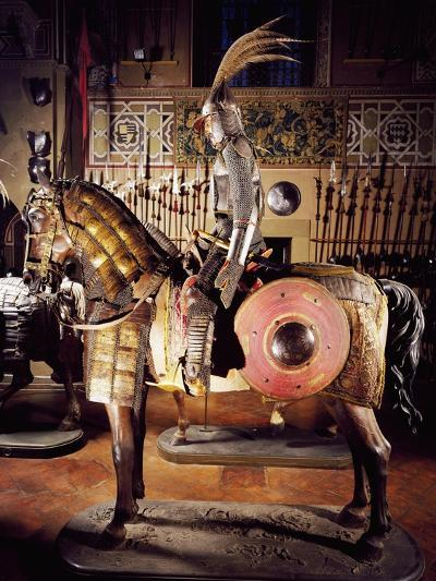 Armor in Steel, Gold, Silver, Chain Mail, Leather and Fabric--Giclee Print