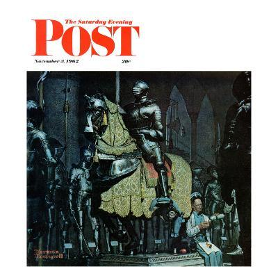 """Armor"" Saturday Evening Post Cover, November 3,1962-Norman Rockwell-Giclee Print"