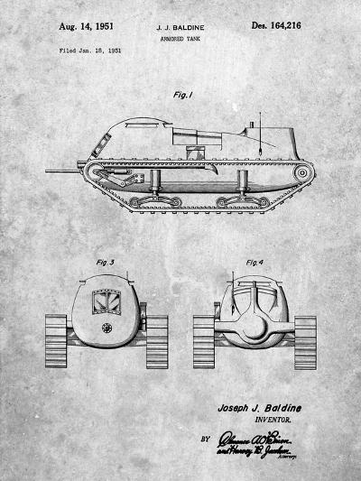 Armored Tank Patent-Cole Borders-Art Print