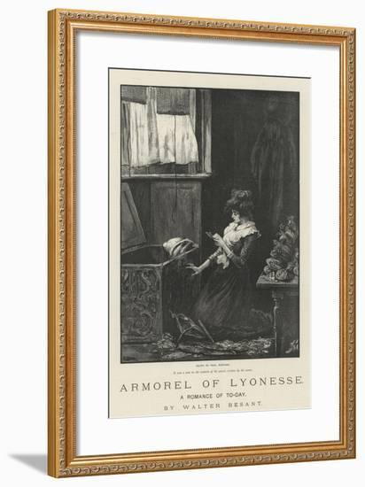 Armorel of Lyonesse, a Romance of To-Day-Frederick Barnard-Framed Giclee Print