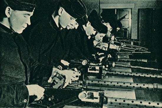 Armourers Assembling Aerial Guns, 1940-Unknown-Photographic Print