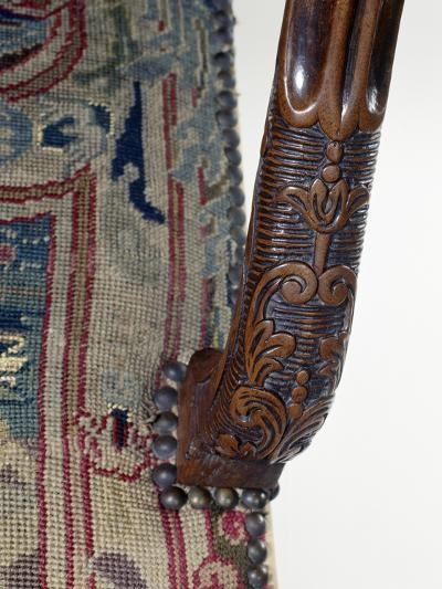 Armrest from Carved Walnut Armchair, France, Late 17th-Early 18th Century, Detail--Giclee Print