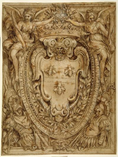 Arms of Don Taddeo Barberini, Principe Di Palestrina-Pietro Da Cortona-Giclee Print