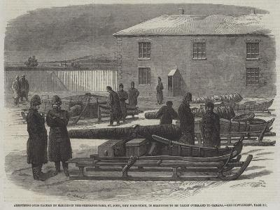 Armstrong Guns Packed on Sleighs in the Ordnance-Yard--Giclee Print