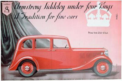 Armstrong Siddeley Motors Advert, 1937--Giclee Print