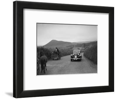 Armstrong-Siddeley saloon of FN Morgan competing in the South Wales Auto Club Welsh Rally, 1937-Bill Brunell-Framed Photographic Print