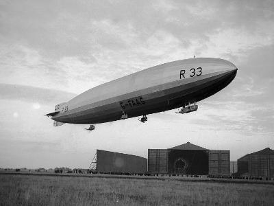 Armstrong Whitworth R33 Airship Outside the Hangars at Pulham in Norfolk, April 1925--Photographic Print