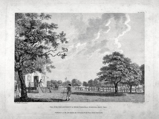 Army Camp in Hyde Park, London, 1780-Francis Chesham-Giclee Print