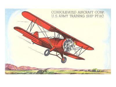 Army Training Biplane PT11C--Art Print