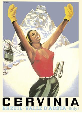 Breuil-Cervinia, Italy - Skier at Alpine Sky Resort - Valle D'Aosta (Aosta Valley) by Arnaldo Musati