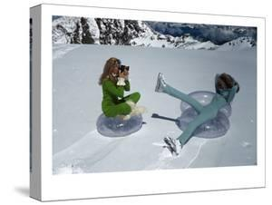 Vogue - November 1968 - Models Filming on Glacier by Arnaud de Rosnay