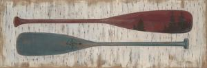 Paddles on Birchbark by Arnie Fisk