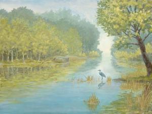 Still Heron Landscape by Arnie Fisk