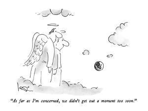 """""""As far as I'm concerned, we didn't get out a moment too soon."""" - New Yorker Cartoon by Arnie Levin"""