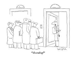 """""""Ascending!"""" - New Yorker Cartoon by Arnie Levin"""