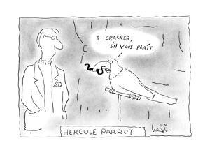 Hercule Parrot - New Yorker Cartoon by Arnie Levin