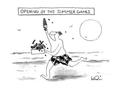 OPENING OF THE SUMMER GAMES - New Yorker Cartoon