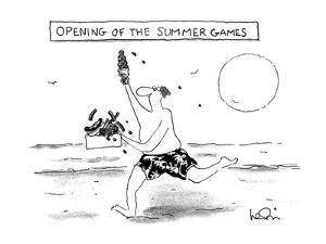 OPENING OF THE SUMMER GAMES - New Yorker Cartoon by Arnie Levin