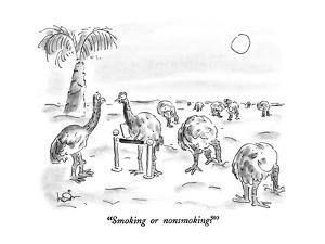 """Smoking or nonsmoking?"" - New Yorker Cartoon by Arnie Levin"