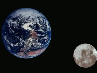Earth and the Moon Seen from Space
