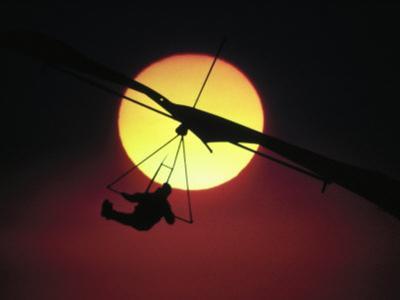 Hang Glider at Sunset