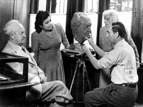 Arno Breker, German Sculptor, Working on a Bust of Gerhart Hauptmann, October 1942--Giclee Print