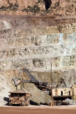 Copper Mine Excavator And Truck