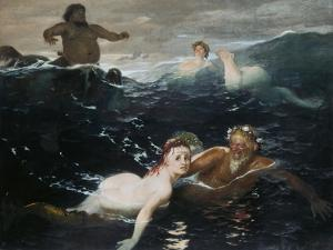 Amid the Waves, 1883 by Arnold Bocklin