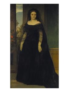 Bildnis Der Tragoedin Fanny Januschek, 1861 by Arnold Bocklin