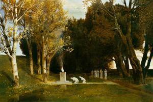 Heiliger Hain, 1886 by Arnold Bocklin