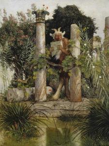 Idylle (Pan, Die Syrinx Blasend), 1875 by Arnold Bocklin