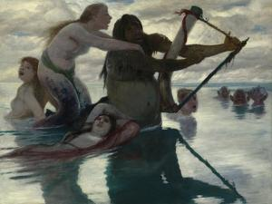 In the Sea, 1883 by Arnold Bocklin