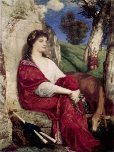 Muse of Music and Lyric Poetry by Arnold Bocklin