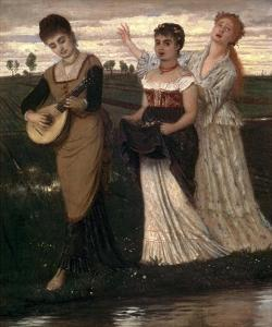 Music in the Fields by Arnold Bocklin