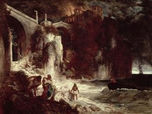 Pirate Assault on a Coastal Fort, 1872 by Arnold Bocklin