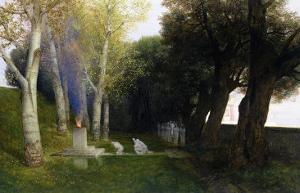 Sacred Grove, 1886 by Arnold Bocklin