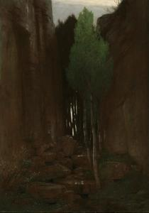 Spring in a Narrow Gorge, 1881 by Arnold Bocklin