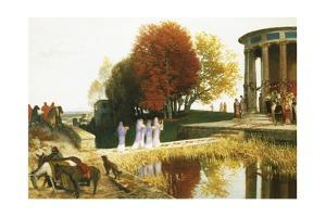 Temple of Bacchus by Arnold Bocklin