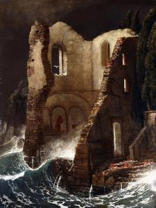 The Chapel by Arnold Bocklin