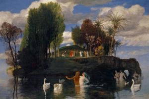 The Island of the Living, 1888 by Arnold Bocklin