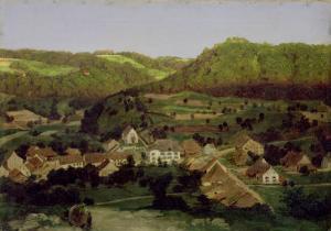 View of the Village of Tenniken, 1846 by Arnold Bocklin
