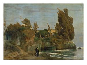 Villa by the Sea, 2. Version, 1865 by Arnold Bocklin