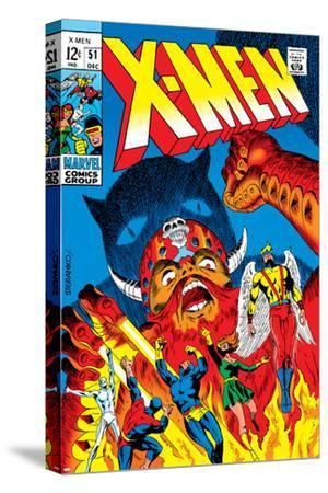 X-Men No.51 Cover: Erik The Red, Cyclops, Angel, Iceman and X-Men